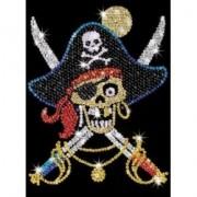 Pin-in-Art-set creativ cu paiete-Pirat