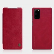 NILLKIN Qin Series PU Leather Cover with Card Slot for Samsung Galaxy Note20/Note20 5G - Red