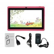 7-pulgadas De Pantalla Táctil HD Enchufe UE Niños De Cuatro Núcleos Para Tablet PC 512MB +8GB Tablet Rosa