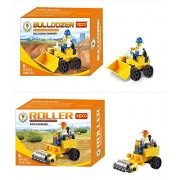 bulldozer construction series blocks set bundle set of 2 BULLDOZER building engineer 39pcs ROLLER road engineers 44 pcs compatible to Lego parts magnificent toy for boys and girls 2 in 1 set