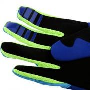 ELECTROPRIME Fox Racing Race Gloves - Motocross ATV Dirt Bike Gear Blue Yellow L