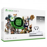 Microsoft Console Xbox One S 1 TB Starter Pack + 3 Mesi Gamepass + 3 Mesi Xbox Live Gold Limited Bundle