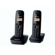 Panasonic Teléfono inalámbrico Panasonic KX-TG1612 DUO Negro