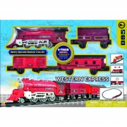 Vlak na baterije western express 3 vagona 103cm