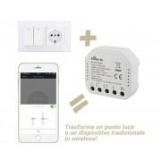 HOM-IO Modulo Switch Da Incasso 10a 1 Canale Wifi Domotica -
