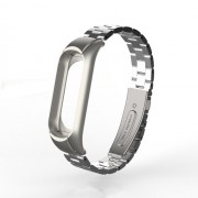 Screwless Three Beads Stainless Steel Wrist Strap for Xiaomi Mi Smart Band 4 / Mi Band 3 - Silver