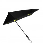 Impliva STORMaxi Aerodynamische Stormparaplu Special Edition zwart / geel (Storm) Paraplu