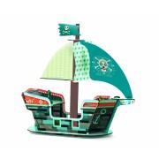 Barcă Djeco machetă 3D