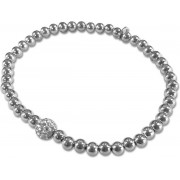 Silventi 910471676 - Zilveren Armband - Zirkonia - Wit - Zilver