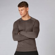 Myprotein Elite bezešvé tričko s dlouhým rukávem - Driftwood - S