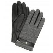 Profuomo Leder-Handschuh Nappa Grau - Schwarz 9