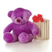 4 Feet Fat and Huge Purple Teddy Bear
