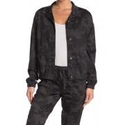 SUPPLIES BY UNION BAY Edna Camo Print Jacket GALAXY GREY