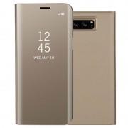 Capa com cobertura série Luxury Mirror View para Samsung Galaxy Note 8 - Dorado