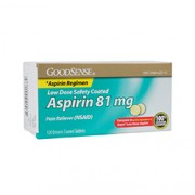 ASPIRIN (Low Dose) 81mg 120 Enteric Coated Tablets