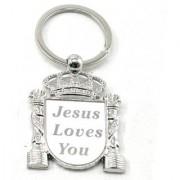 Faynci Jesus Love You Key ring Key chain Faith Religious Gift/Friendship Gift
