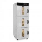 Klarstein Master Jerky 550, uscător de alimente, 2400 W, 40 - 90 ° C, cronometru de 24 ore, oțel inoxidabil, argintiu (DHY9-MasterJerky550)