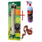 Set împotriva șerpilor: Aparat subteran de alungare a șerpilor + Spray împotriva șerpilor (750 ml pentru 100 mp.)
