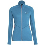 Salewa Puez Melange - giacca in pile - donna - Light Blue/Grey