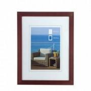 Rama foto tablou din lemn 30 x 40 cm visiniu