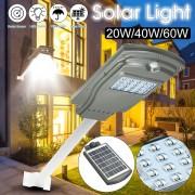 Proiector Lampa Stradala LED 20W cu panou solar si senzor de miscare