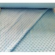 160 cm széles minky textil - méteráru világos kék - aqua kék színben