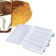ER 12 Compartimiento dobles señuelos de pesca Sided Tackle Ganchos cebos caja de la caja de almacenamiento (transparente).