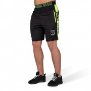 Gorilla Wear Shelby Shorts - Zwart/Neon Groen - S