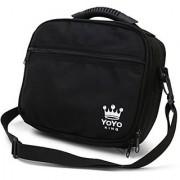 Yoyo King Black Yoyo Bag Heavy Duty Soft Case for Storage of 8 Yoyos and Accessories