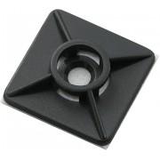 Soclu fascicul cablu, 4 cai, 27 x 27 mm, negru