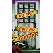 Haunted House - Halloween Door Cover - Do Not Enter