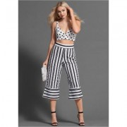 Printed Pant Set Pants - White/Black
