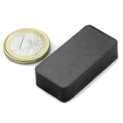 Magnet ferita bloc, 40x25x10 mm, putere 3 kg