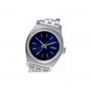 Reloj Nixon A3991933 Small Time Teller-Plateado Y Azul