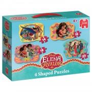 Jumbo 4-in-1 vormpuzzel Disney Elena van Avalor - 14 + 16 + 18 + 20 stukjes