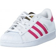 adidas Originals Superstar Foundation C Ftwr White/Bold Pink/White, Skor, Sneakers & Sportskor, Låga sneakers, Vit, Barn, 28