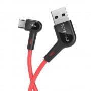Cablu incarcare Blitzwolf AC1 USB C 5V 3A 1.8 metri lungime 22AWG power 30 AWG Data rosu