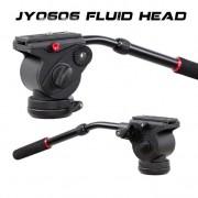 JY0606 FLUID DRAG VIDEO TRIPOD HEAD FLAT BASE ( 6Kg )