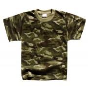 Koszulka dziecięca militarna moro, letnia