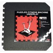 mașină de spălat Yate FITNESS PUZZLE MAT 55X55X0,8 CM, SET 4 KS, black