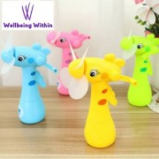 Wellbeing Within Portable Hand Crank Mini fan without Battery for Kids Toy Gift Pack of 1 (Multicolor)
