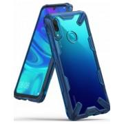 Protectie Spate Ringke FUSION X 8809628569898 pentru Huawei P Smart 2019 (Transparent/Albastru)