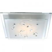 Plafonier elegant dim.33,5x33,5cm, cristale K5, LED Eline 40419 GL
