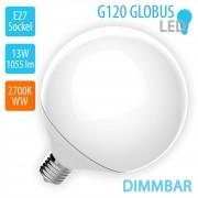 V-TAC - 13W LED E27 120 Globe, DIMMBAR ,2700K Warmweiß,1055lm