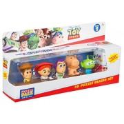 Sambro Disney Toy Story 4 Verzamelfiguren Met Woody, Buzz, Alien, Hamm en Jessie Bouw uw uw eigen figuren met puzzelstukjes vanaf 3 jaar 1 verborgen figuur