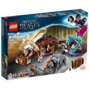 Конструктор ЛЕГО Хари Потър - Сандъкът с магически създания на Newt, LEGO Harry Potter, 75952