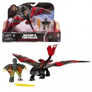 Spin Master Dragons - Action Game Set Dragon Toothless with Movable Wings & Hiccup Trainer