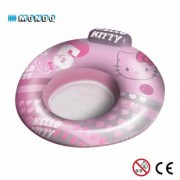 Poltrona gonfiabile 2 in 1 con poggiatesta Hello Kitty 104 cm Floating Chair Linea Mondo