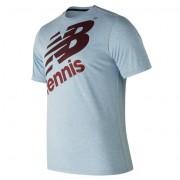 ニューバランス newbalance テニスクルーネックヘザーTシャツ グラフィック メンズ > アパレル > テニス > トップス ブルー・青
