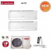 Ariston Climatizzatore Condizionatore Ariston Dual Split Inverter Alys R-32 12000+12000 Btu Con Dual 50 Xd0-O 12+12 Wi-Fi Optional